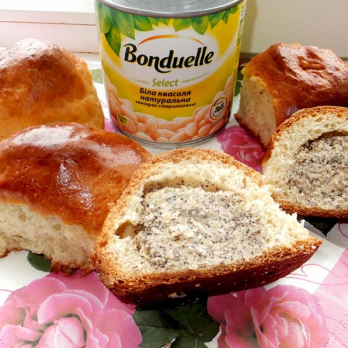 """Запашні пироги із квасоляного розсолу з квасолею """"Бондюель"""""""
