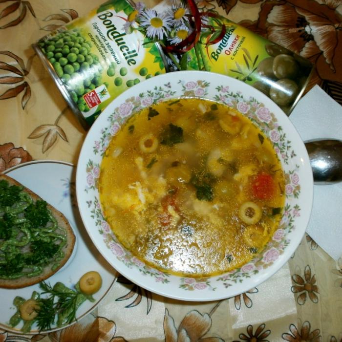 Суп з канапкою
